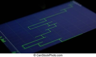 stock exchange and market finance trading on tablet pad graph and chart