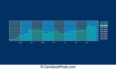 Stock exchange infographic on the alpha channel - The graph,...