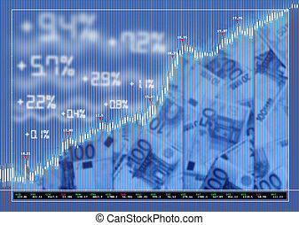 Stock exchange market background