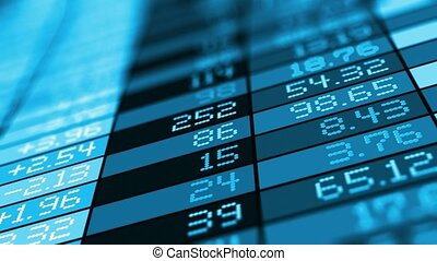 Stock exchange market trade data - Creative abstract...
