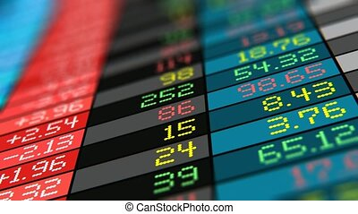 Stock exchange market trade data