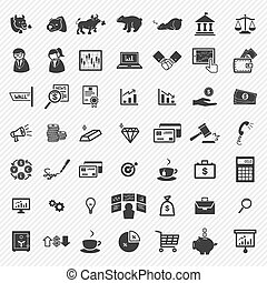 Stock financial icons set.