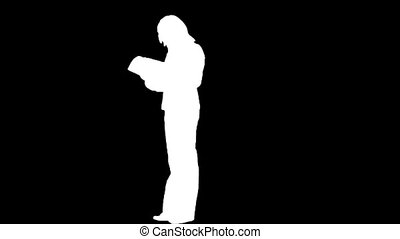 Stock Footage  -Business Woman Silhouette