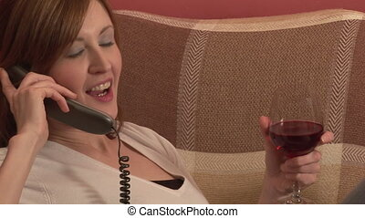 Stock Footage of a Woman on the Telephone