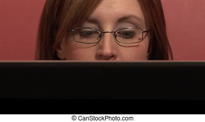 Stock Footage of a Woman Working from Home