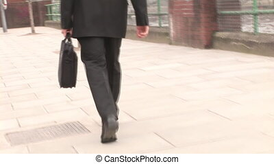 Stock Footage of Businessman Working Outdoors