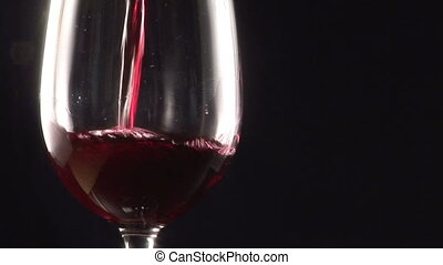 Stock Footage  - Pouring a glass of red Wine
