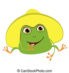 Stock Illustration Cartoon Frog in Panama