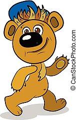 Stock Illustration Cartoon teddy bear