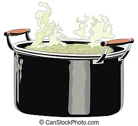 Casserole with food. - Stock illustration. Casserole with...