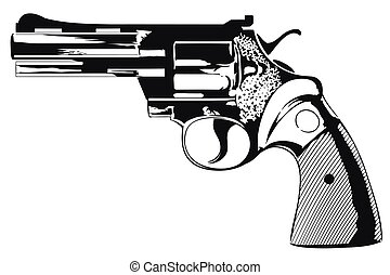 Colt of 38th caliber. - Stock illustration. Colt of 38th...
