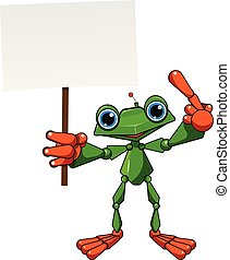 Stock Illustration Frog Robot with Poster