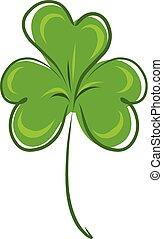 Stock Illustration Green Clover Leaf