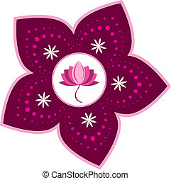 Stock Illustration: Lotus pattern
