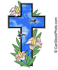Stock Illustration of Easter Cross