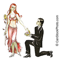 Stock illustration of Marriage Proposal
