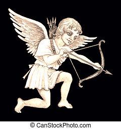 Stock illustration of Vintage Cupid