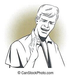 Successful businessman okay gesture OK
