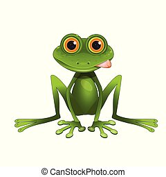 Stock Illustration Sitting Frog