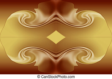 Stock Image of Chocolate and Caramel Background