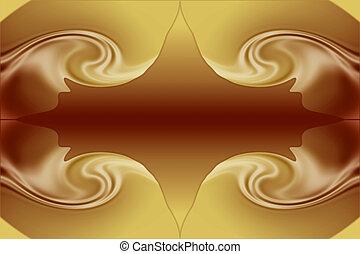 Stock Image of Chocolate and Caramel Background - Beautiful...