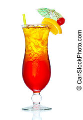 Tequila Sunrise - Stock image of Tequila Sunrise cocktail ...
