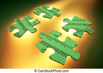 Stock Listing Jigsaw Puzzle Pieces