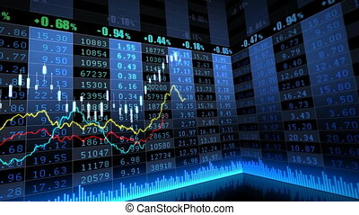 Stock Market   068 - Stock market trend of animation.