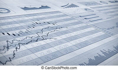 Stock Market 074 - Stock market trend of animation.