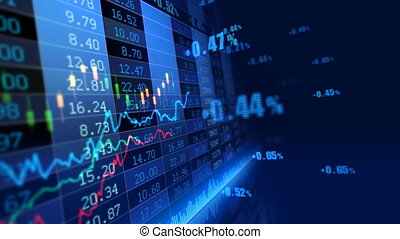 Stock Market _072 - Stock market trend of animation.