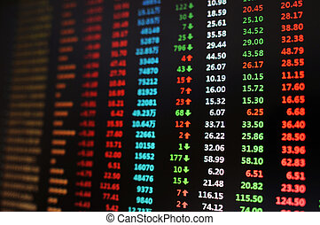 Stock market - A live stock market chart with gains and...
