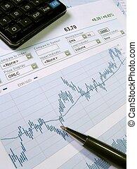 Stock market analysis - Stock market chart for investor ...