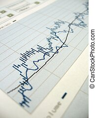 Stock market analysis - Stock market chart for investor...