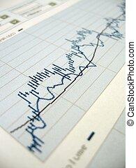 Stock market analysis - Stock market chart for investor...