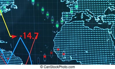 """""""Stock market and exchange of world. Candle stick graph chart """""""