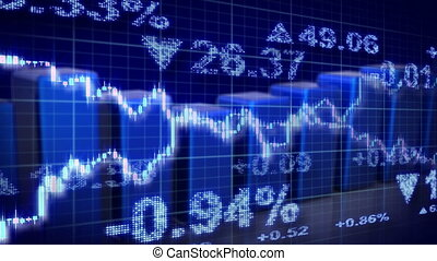 stock market blue loopable business