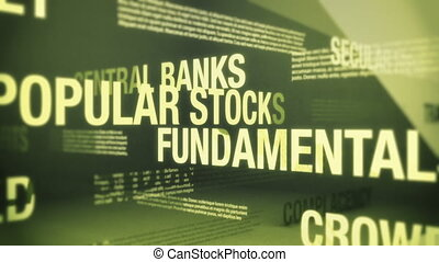 Stock Market Boom or Bull Market Related Terms Seamless Background Loop
