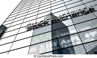 Stock market building.
