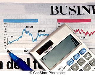 Stock market - calculator over the stock market graph...