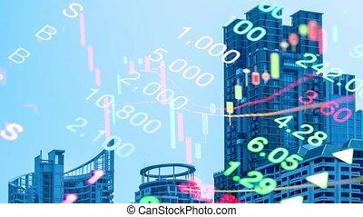 stock market chart concept
