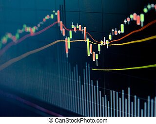 Stock Market Chart on led screen