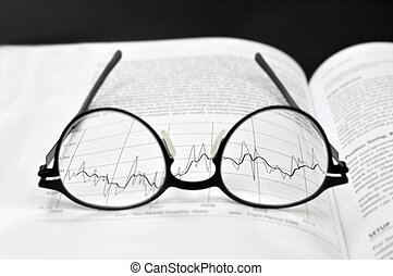 Stock market charts analysis