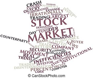 Stock market - Abstract word cloud for Stock market with...