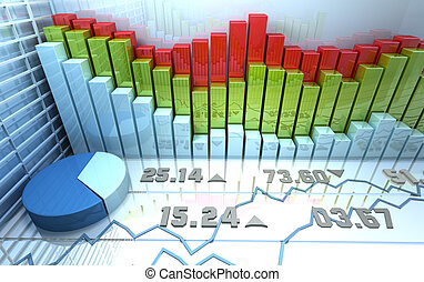 Stock market colorful abstract