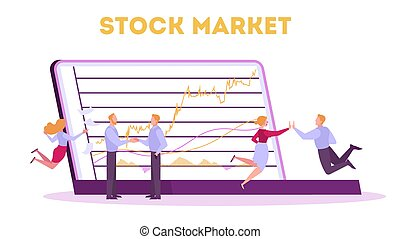 Stock market concept. Idea of finance investment