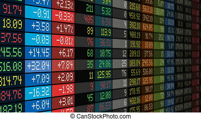 Stock market concept - Stock exchange market business ...