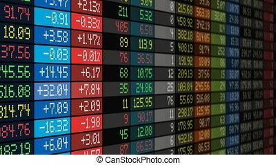 Stock market concept - Stock exchange market business...