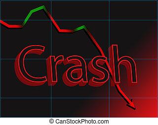 Abstract image of stock chart market crash