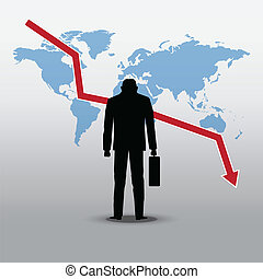 stock market crash and businessman