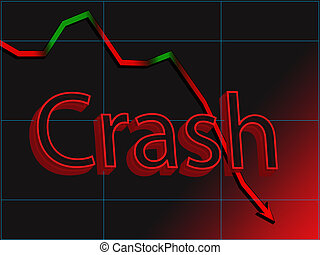 Stock market crash - Abstract image of stock chart market...
